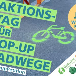 Zum Weltfahrradtag am 3. Juni zahlreiche Popup-Radwege auf Leipzigs Straßen