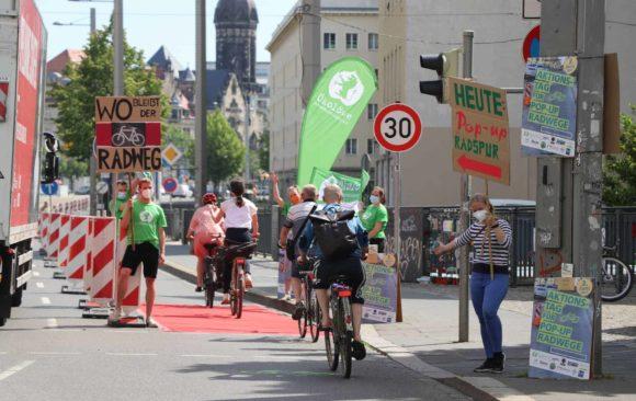 Leipziger Verbände setzen am Weltfahrradtag deutliches Zeichen für sicheren Radverkehr